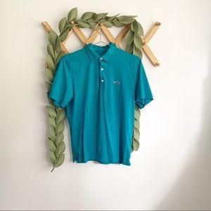 Patagonia Teal Polo Shirt